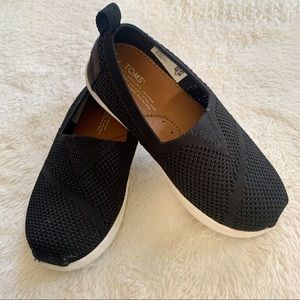 Toms black classic slip on shoes